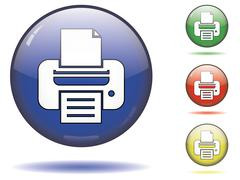 Printer button symbol Stock Illustration