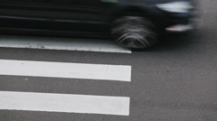 Cars Driving Over a Zebra Crossing - stock footage