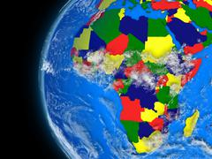 Stock Illustration of African continent on political globe