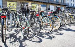 Bicycles in Copenhagen - stock photo
