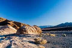 Sunrise at Zabriskie Point, Death Valley National Park, USA Stock Photos