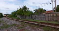 Train Approaching, Freight Transport, Railroad Tracks - stock footage