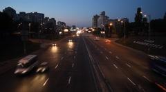 Lights of the night city Stock Footage