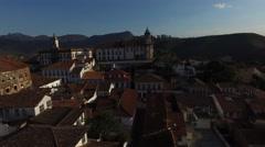 Aerial view of Ouro Preto, Minas Gerais, Brazil Stock Footage
