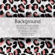 Vector background with space for text, and decorations fur leopard triangle Stock Illustration
