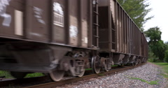 Train Leaving, Freight Transport, Railroad Tracks - stock footage
