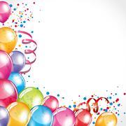 Fiesta balloons - stock illustration