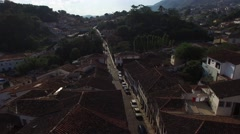 Aerial View of Rosario streets, Ouro Preto, Brazil Stock Footage