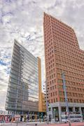 Potsdamer Platz, financial district of Berlin, Germany. - stock photo