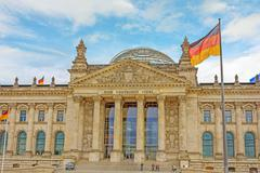 Reichstag building, Berlin, Germany - stock photo
