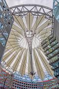Roof of Sony Center at Potsdamer Platz, Berlin - stock photo
