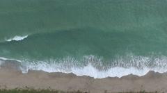 Sunrise coastline birds eye view south from 9200 S Ocean Dr, Jensen Beach, FL Stock Footage