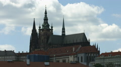 View of St. Vitus Cathedral in Prague Stock Footage