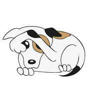 Sad dog Stock Illustration