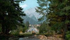 Town of Banff Stock Footage