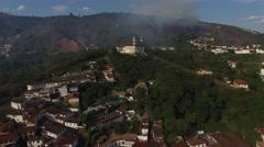 Aerial View of Church Sao Francisco de Paula, Outro Preto, Brazil Stock Footage
