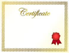 Stock Illustration of certificate diploma and ribbon illustration