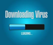 Stock Illustration of downloading virus loading bar illustration