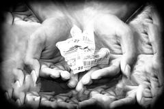Concept of hope, Lottery in your hand. Stock Photos