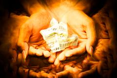 Stock Photo of Concept of hope, Lottery in your hand.