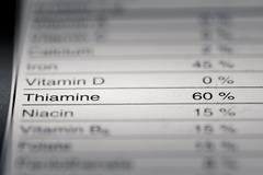 Shallow depth of Field image of Nutrition Facts - stock photo