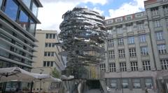 Metalmorphosis sculpture of Franz Kafka by David Černý, Prague Stock Footage