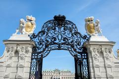Belvedere Castle park - Vienna - stock photo