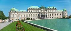 Belvedere Castle park - Vienna Stock Photos