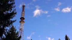 TV tower in sky - stock footage