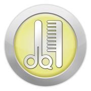 Icon, Button, Pictogram Barber Shop - stock illustration