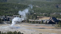 Old Faithful Geyser, Yellowstone National Park, Wyoming, USA - stock footage