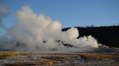 Old Faithful Geyser, Yellowstone National Park, Wyoming, USA Stock Footage