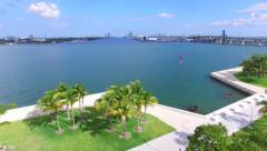 Museum Park Downtown Miami Stock Footage