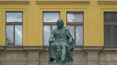 Josef Jungman statue in Prague Stock Footage