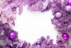 Christmas framework magenta fir - stock photo