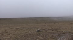 Bale Mountains National Park landscape incomming mist Stock Footage
