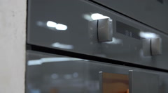 Buttons on a microwave - stock footage
