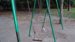 Ghostly swing in the park Stock Footage