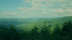 Amaizing Carpathian landscape panorama Stock Footage