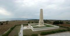Canakkale Helles Memorial Stock Footage