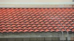 raining on home roof - stock footage
