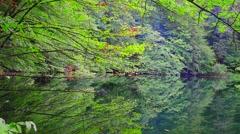 Lake in summer time. Beautiful lake Ambil in Shabran, Azerbaijan. Early morning  - stock footage