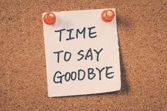 Time to say goodbye Stock Photos