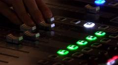4k Music concert audio mixer operator closeup Stock Footage