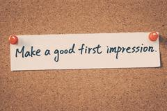 Make a good first impression - stock photo