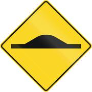 Road Bump In Canada Stock Illustration