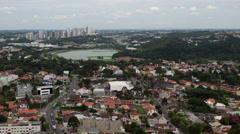 Stock Video Footage of 4K Timelapse Curitiba aerial view zoom out