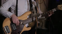 Guitarists in live action at a concert - stock footage