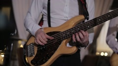 Guitarists in live action at a concert Stock Footage