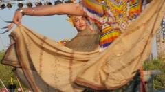 Traditional thai dancers,Bangkok,Thailand Stock Footage
